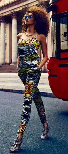 ♥ this jumpsuit! #africanstyle #africanfashion