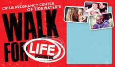 You can make a difference for LIFE in our community! Join Crisis Pregnancy Center of Tidewater's Walk for LIFE! Walk For Life, Life Crisis, I Can, Pregnancy, Walking, Walks, Pregnancy Planning Resources, Conceiving