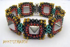 Tutorial Cheerful studs bracelet by Akkesieraden on Etsy, €6.00