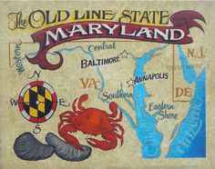 Hey, I found this really awesome Etsy listing at https://www.etsy.com/listing/185555016/maryland-map-print-with-mat