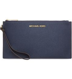 MICHAEL MICHAEL KORS - Jet Set Travel Saffiano leather pouch clutch | Selfridges.com