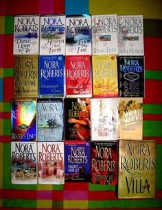 Nora Roberts Books - Nora is one of my favorite authors