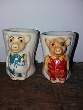 PINKY AND PERKY egg cups. vintage.  No. 5.