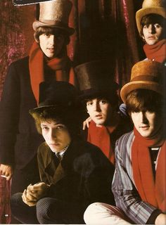 Bob Dylan with The Beatles.