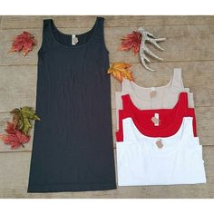 "extra long layering tank tops that help ""hold it in"" every woman needs these for every season Layering Tank Tops, Basic Tops, Southern Style, Red Christmas, Boutique Clothing, Layers, Tanks, Shirts, Outfits"