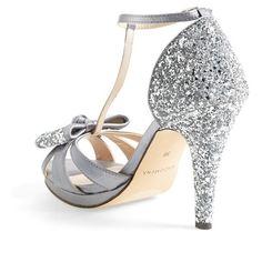 Women's Menbur 'Bornehl' Satin & Glitter Pump (1 355 ZAR) ❤ liked on Polyvore featuring shoes, pumps, bow pumps, glitter pumps, glitter shoes, satin shoes and bow shoes