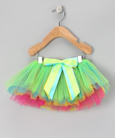 Rainbow Bow Tutu by Miss Fancy Pants on #zulily