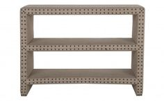 Bretton Burlap Shelf - Casegoods - Furniture | Jayson Home