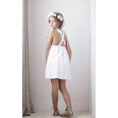 Vestido Tirantes Espalda Cruzada Plumetti Blanco