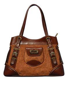 Product Name Silvio Tossi Two-tone Leather Tote at Modnique.com