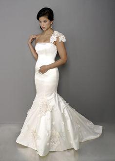 Image detail for -wedding Dresses >>>> Mermaid Wedding Dresses >>> Floral One Shoulder ...