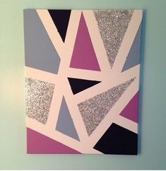 40 Creative Acrylic Painting Ideas For Beginners Simple Canvas Paintings, Easy Canvas Art, Small Canvas Art, Easy Canvas Painting, Cute Paintings, Diy Canvas, Canvas Wall Art, Canvas Crafts, Tape Painting
