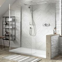 Look at these 30 attractive walk-in shower designs. The Architecture Designs have 30 most attractive walk-in shower designs to make your bathroom look great. Bathroom Wall, Small Bathroom, Master Bathroom, Bathrooms, Glass Shower Panels, Shower Doors, Glass Panels, Large Shower, Shower Set