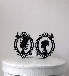 Hey, I found this really awesome Etsy listing at https://www.etsy.com/listing/246317247/wedding-cake-topper-halloween-wedding