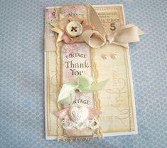 iralamija: Tutorial to make this Vintage Thank You card