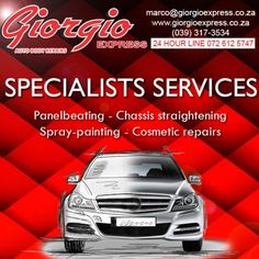 When it comes to specialists auto repair services you won't find better than Giorgio Express Auto Body Repairs!