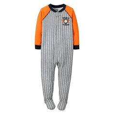 Carters Just One You Baby Boys Jersey 1piece Footed Sleeper Pajama 18 Months Baseball Rookie Sleeper