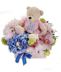 Добрый мишка http://www.sendflowers.ru/rus/flowers/ex2827.html