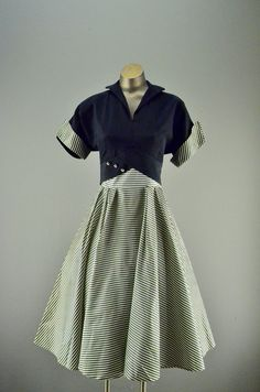 1940s party dress / New Look Era