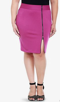 Pink skirt - 10 Most Wanted: Plus Size Skirts #plussize