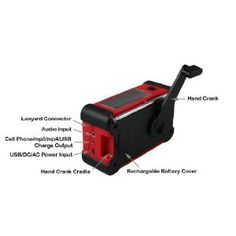 $40 solar AND crank powered radio/flashlight/small charger  http://www.amazon.com/Ambient-Weather-WR-111-Emergency-Flashlight/product-reviews/B0071BTJPI/ref=dp_top_cm_cr_acr_txt/189-6457774-5167304?ie=UTF8=1