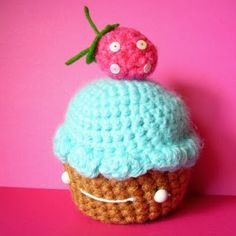 cupcake de crochet
