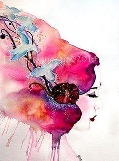 Fine+Art+Print+'Free+as+a+Bird'+by+HelenFaerieArt+on+Etsy,+£10.00