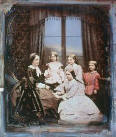 A family group, 1845. Hand-colored daguerreotype.