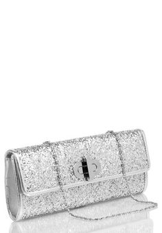Silver Glitter Clutch #MyYDHDLook