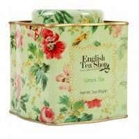 GREEN TEA – 85GM LOOSE TEA IN SHABBY FLORAL TIN