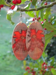 Super Sexy Monkey Puzzle Wood Earrings by forestlifecreations, $69.00