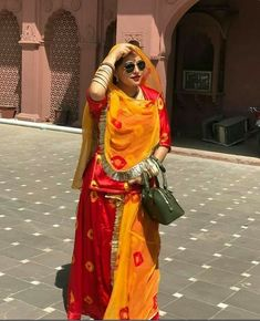 Indian Bridal Fashion, Indian Fashion Dresses, Teen Fashion Outfits, Girl Fashion, Rajasthani Bride, Rajasthani Dress, Indian Long Dress, Dress Indian Style, Rajputi Dress