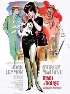 """""""Irma la Douce"""" - (Irma, la dulce) - (1963) es una película dirigida por Billy Wilder y protagonizada por #JackLemmon y #ShirleyMcLaine. Ganadora de uno de los dos Oscar a los que estuvo nominada, la película está basada en un exitoso musical francés estrenado en 1959, con libreto de Alexandre Breffort y música de Marguerite Monnot."""