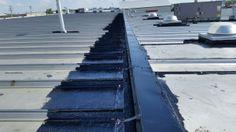 Liquid Rubber Spot Repairs Leduc Alberta To Industrial Building Liquid Rubber Metal Roof Repair Metal Roof