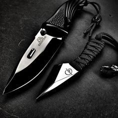 Two hardcore stabby things. @denis_mura Kiri and Rockstead SHIN. Zirc and…
