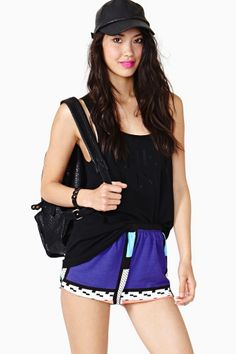 Pattern Play Shorts by Nasty Gal