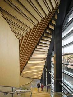 Kengo Kuma's Aix En Provence Conservatory Of Music Boasts Pleated Aluminium Walls Japanese Architecture, Amazing Architecture, Architecture Details, Interior Architecture, Cladding Design, Timber Cladding, Ceiling Design, Wall Design, House Design