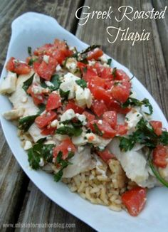 Greek Roasted Tilapia is an is easy and quick and perfect for clean eating