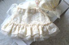 Newborn Skirt Set. Aurora Baby Lace Bonnet and от verityisabelle