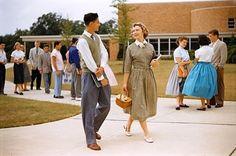 hollyhocksandtulips:    high school, 1950's
