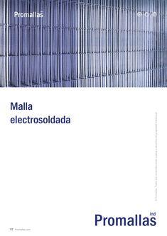 Malla electrosoldada en paneles fabricados con alambre de acero gris y pregalvanizado. Especial para su aplicación en todo tipo de cerramientos metálicos. Panel, Bar Chart, Company Logo, Tech Companies, Diagram, Logos, Gates, Wire, Steel