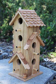 Große Eigentumswohnung Vogelhäuschen Holz und von CarefullyCorked, $46.95