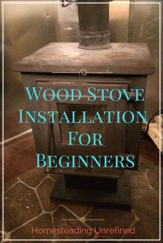 Wood Stove Installation For Newbies Diy Wood Stove, Wood Stove Cooking, Wood Stove Hearth, Wood Stove Chimney, Diy Interior, Wood Stove Installation, Pellet Stove, Gas Stove, Into The Fire