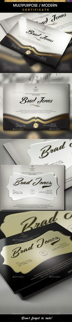 """Buy A Great Deal! / Modern Certificates by Mexelina on GraphicRiver. Multipurpose Modern Certificates Bundle / INTRODUCTION Quickly create a professional looking """"Award of Excellence"""" ce. Certificate Of Merit, Certificate Design, Certificate Templates, Infographic Templates, Psd Templates, Student Of The Month, Great Deals, Diploma Frame, Animal Logo"""