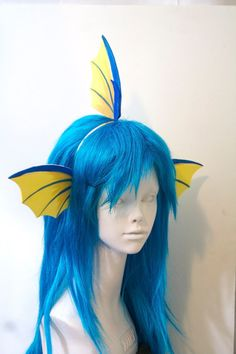 Vaporeon Fins Headband / Pokemon Cosplay Costume / by WhitefoxHats The Little Mermaid Musical, Little Mermaid Play, Little Mermaid Costumes, Sea Creature Costume, Sea Costume, Fish Costume, Pokemon Halloween, Cosplay Tutorial, Cosplay Diy