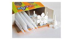 Vékony fehér születésnapi szálgyertya készlet tartóval , Süss Velem Cukrász Webshop