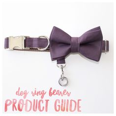 Design your custom set today! -Multiple price points -ring attachment for dog ring bearer -bow tie is removable -reusable after the big day -shipping quick