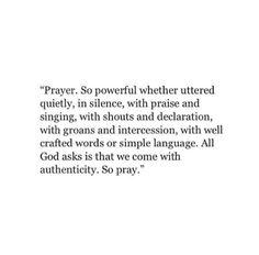 prayer is so powerful