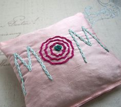 Lavender Sachet for Mom Hand Embroidered by Dolce by dolcedreams, $16.00