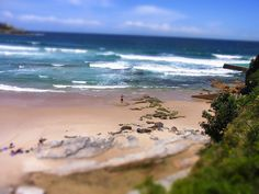 Bondi Beach - the only quiet place on the beach that day